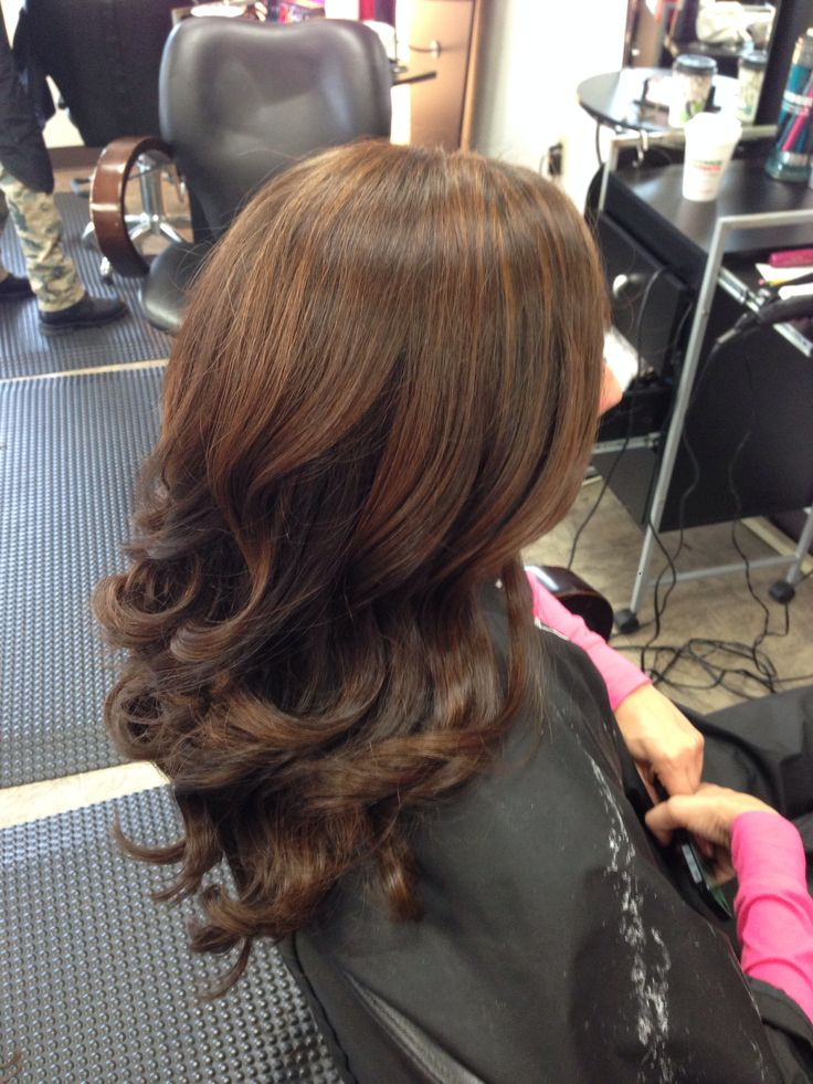 Soft Caramel Balayage Highlights Against Rich Chocolate Brown Hair  Colorby