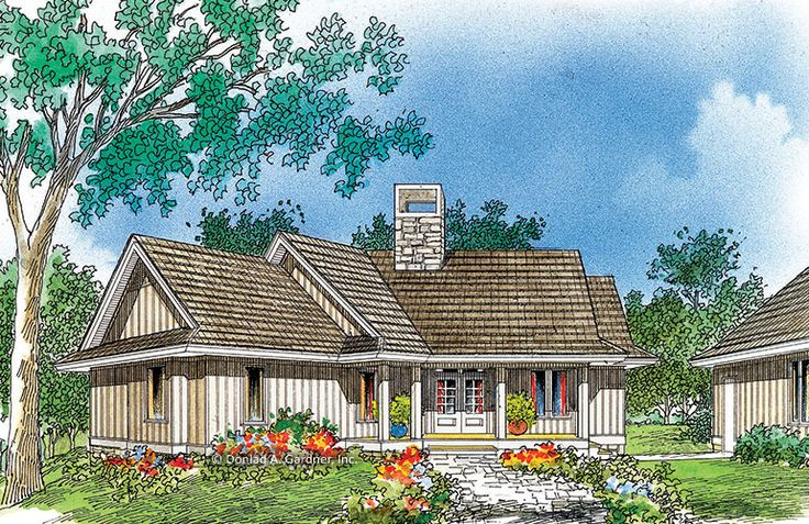 Home Plan The Evergreen by Donald A. Gardner Architects