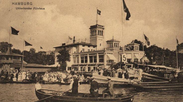 Uhlenhorster Fährhaus - die vergessene Alster-Perle  HAMBURG GERMANY 1910 HOTEL ATLANTIC POSTCARD VINTAGE