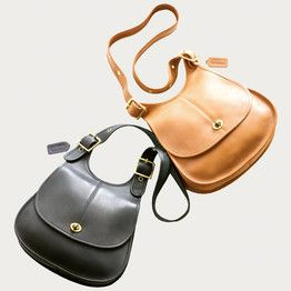 This 'Crescent' bag, 1964, became a classic for Coach.