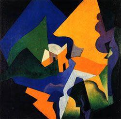 Enrico Prampolini, Costruzione spaziale-paesaggio, 1919