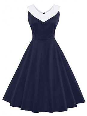 Women s Vintage Polka Dots Cap Sleeve Cocktail Formal Swing Dress (Navy,  2XL) at Amazon Women s Clothing store  29a0e1108e