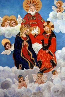 Incoronazione della Vergine - olio su tela (80x120 cm)