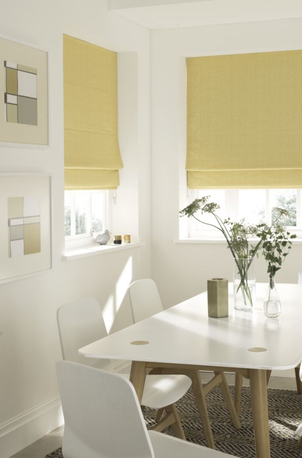 Bring a touch of sunshine into your interiors with the help of our Rain Sunshine Roman blinds. Yellow is the perfect choice for adding a touch of colour to a simple colour scheme and it's guaranteed to put a smile on your face!