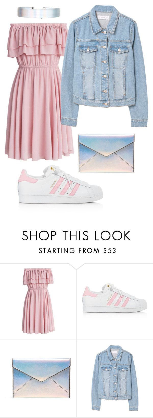 """Untitled #138"" by filipa-novais05 ❤ liked on Polyvore featuring Chicwish, adidas, Rebecca Minkoff, MANGO and Accessorize"