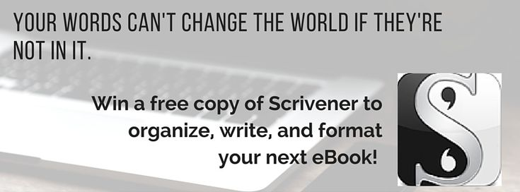 You might be that LUCKY ONE. Scrivener Giveaway.