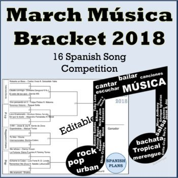 Our 2018 bracket features current songs that have been released since last March and are all school appropriate and features musical genres such as Vallenato, Pop, Reggaeton, and more.