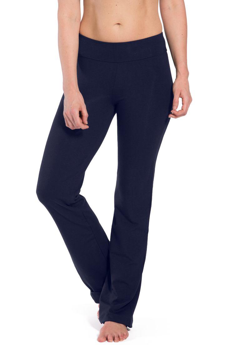 Women's Ecofabric Bootleg Yoga Pants with Pockets
