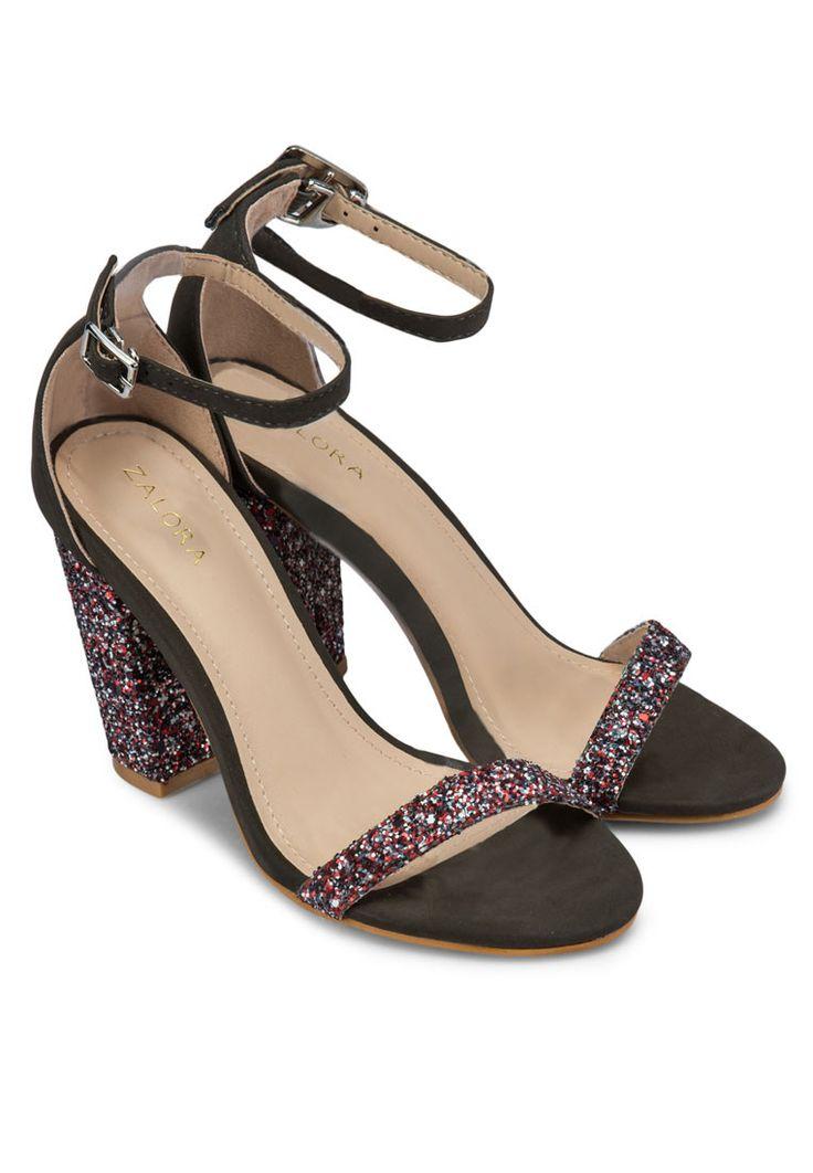ZALORA Glitter Heel Sandals www.zalora.com.ph