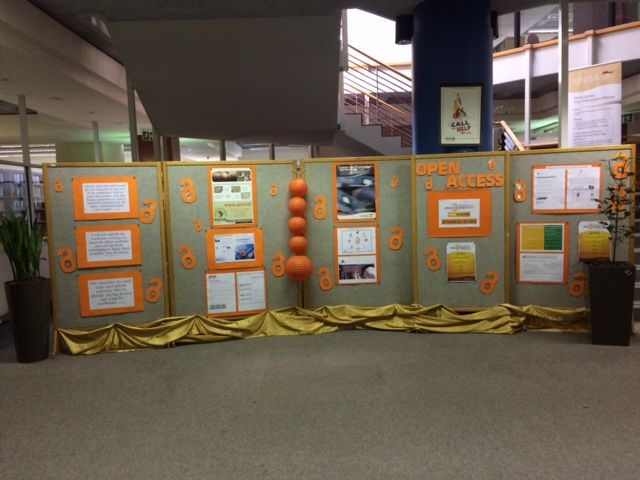 Open Access Exhibition in the UNISA Science Campus Library during the week of 24 to 28 October 2016.