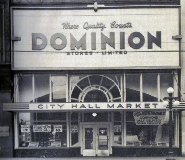 Mid-century Dominion grocery store, Toronto, Ontario, Canada. #vintage #supermarket #shopping