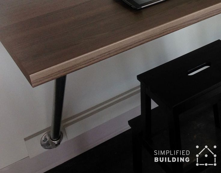 316 best images about pipe desks on pinterest desk plans for Build your own wall mounted desk