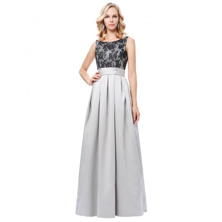 Sivé spoločenské šaty GK000127