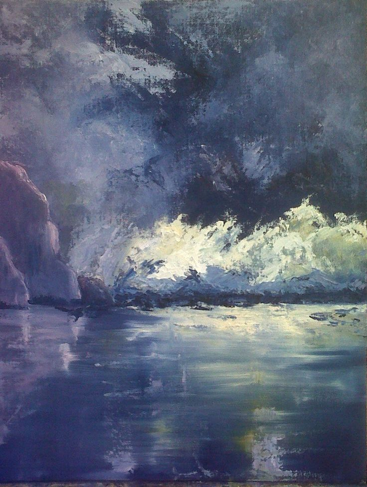 Iceberg, by Pam Selkirk . 68 x 74cm.