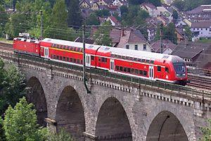 Schwarzwaldbahn - Das Viadukt in Hornberg