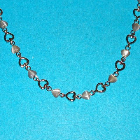 Heart Chain Link Necklace - Mookie Designs Vintage