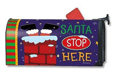 Santa stop here #christmas magnetic mailbox #cover holiday #humor standard,  View more on the LINK: http://www.zeppy.io/product/gb/2/181816106823/