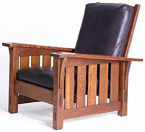 "Gustav Stickley's Morris Chair. I""ve been Looking everywhere and I finally found one! I love it!!!"