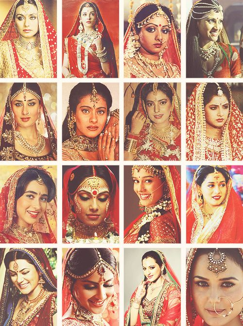 Bollywood brides, let's see we've got rani, Sri Devi, kajol, juhi, kareena, Karishma, bipasha, preity, shushmita, madhuri