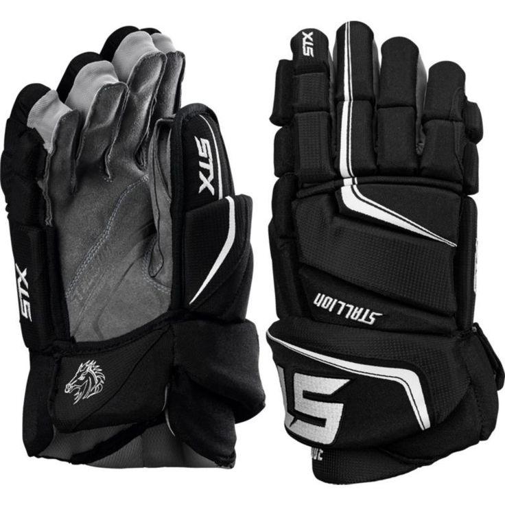 STX Stallion 300 Senior Hockey Gloves, Black
