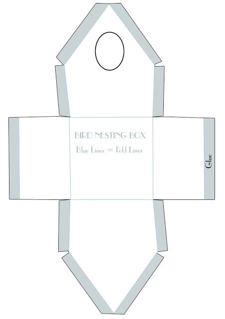 Template for paper birdhouse.......karmuca and cuquino: house for birds