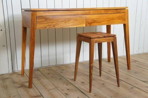 北欧デザイン脚の形がかっこいいチークデスク木製机作業台 インテリア 雑貨 家具 Modern nordic desk ¥19000yen 〆05月06日