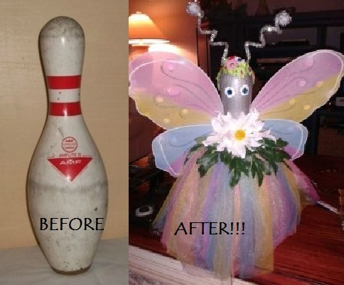 Reuse / Recycle! It started as a bowling pin!
