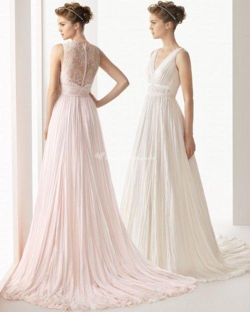 A elegância dos vestidos de noiva plissados