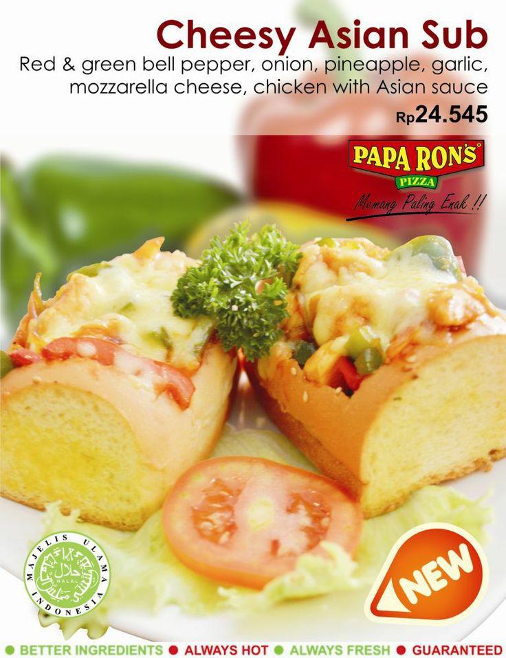 Menu Starter baru Cheesy Asian Sub