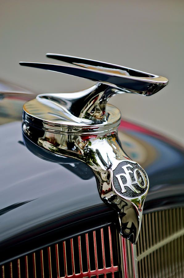1935 Reo Speedwagon Pickup Hood Ornament Photograph