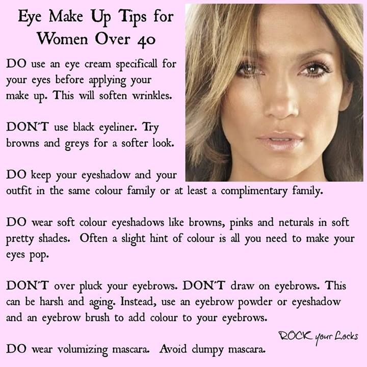 Eye makeup tips for women over 40:                                                                                                                                                      More