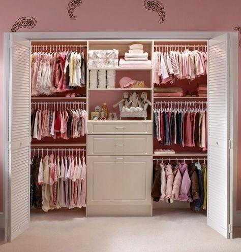 {Nursery Closet Organization} Easy DIY Baby Closet Pictures & Ideas