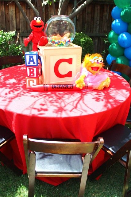 """Photo 7 of 67: Sesame Street / Birthday """"Can you tell me how to get, how to get to Sesame Street?"""""""