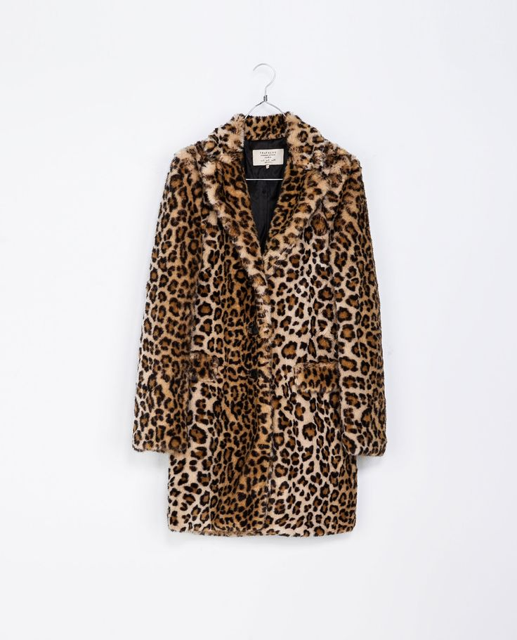LEOPARD FURRY COAT from Zara