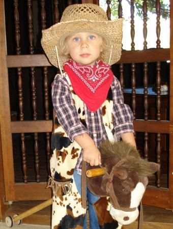 Cowboy - 75 Cute Homemade Toddler Halloween Costume Ideas | Parenting