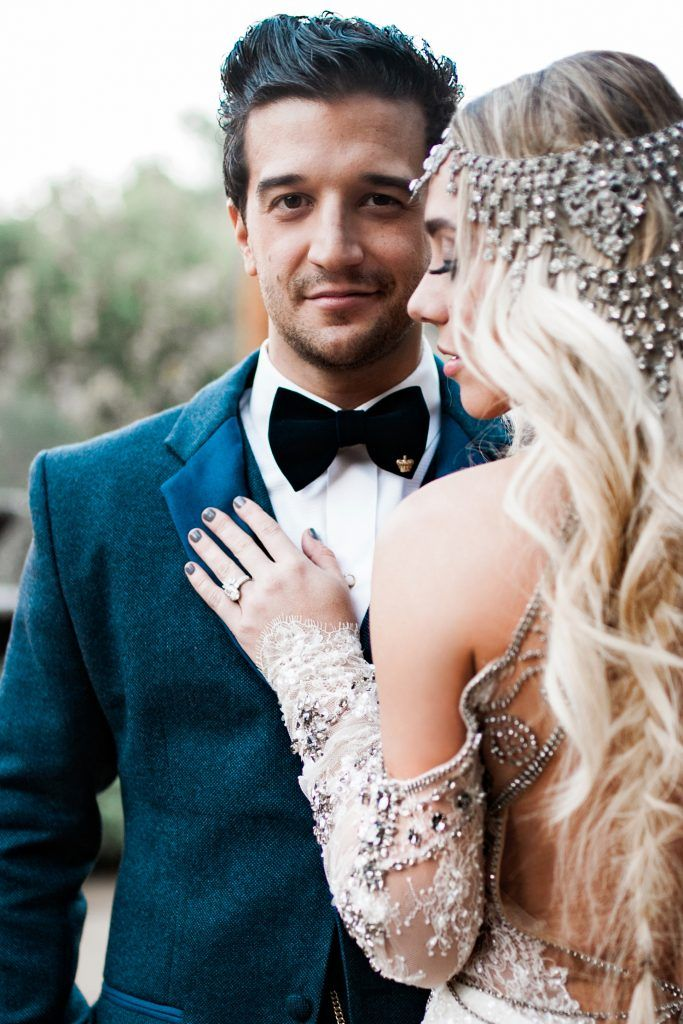 BC Jean wed Mark Ballas in a custom designed Idan Cohen wedding gown.