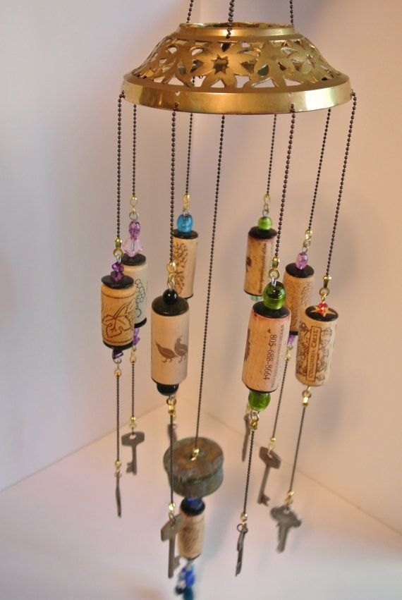 Skeleton Keys and Cork Wind Chime by sarahracha on Etsy, $25.00
