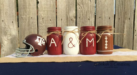 #DIY Aggie Mason Jars by RebekahCreations