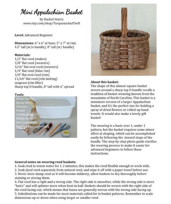 Basket Weaving Pattern: Miniature Appalachian by TurquoiseAndTwill