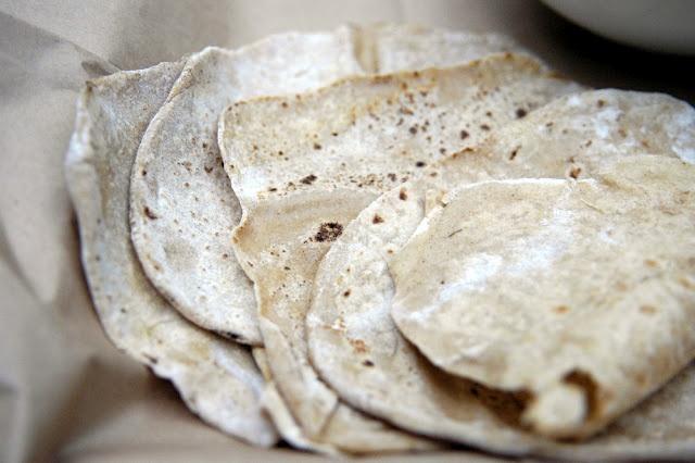 Kamut Chapitas- Indian flatbread; Kamut, oil, water