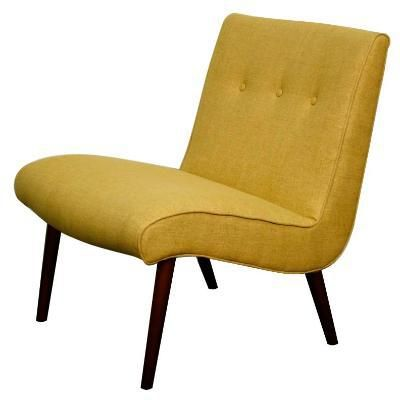 Alexis Mid-Century Inspired Fabric Accent Chair, Pistachio