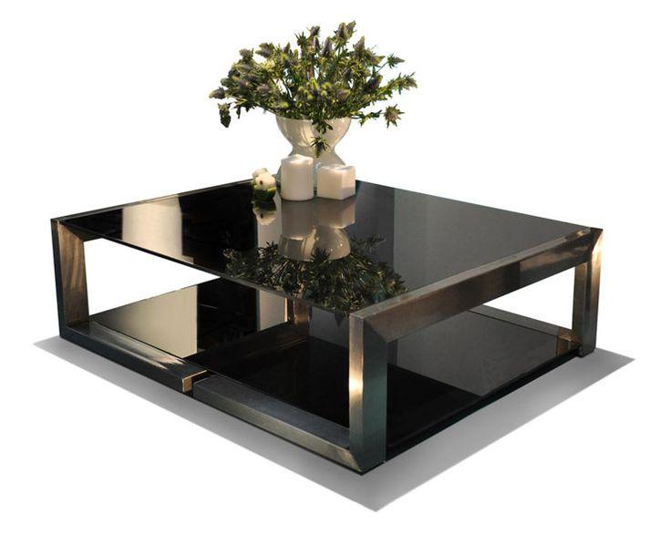 Mesa de centro mesas de centro cuadradas in 2019 for Mesas de centro de sala de vidrio