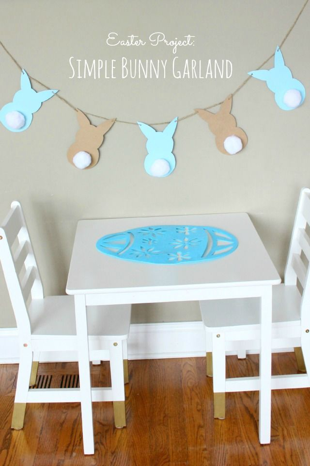 DIY: Easter Bunny Garland.