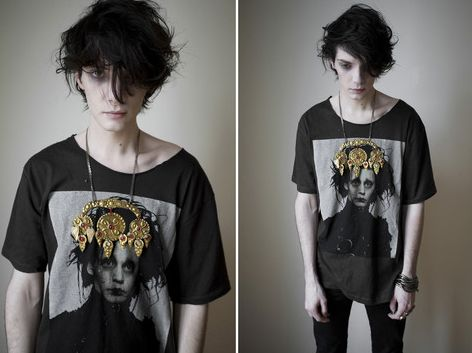 This is what I imagine my Satan character (Sam) to look like, just with curlier hair and green eyes