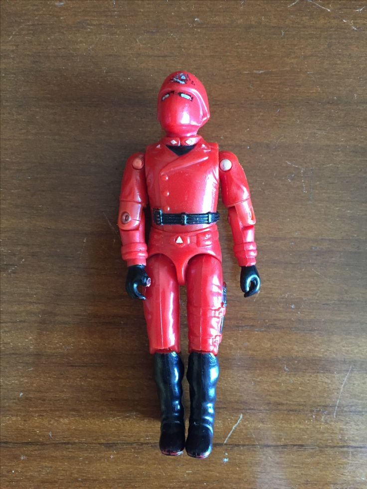 Damaged Palitoy Action Force 'Red Laser' Figure A: Broken thumb and badly worn paint in head