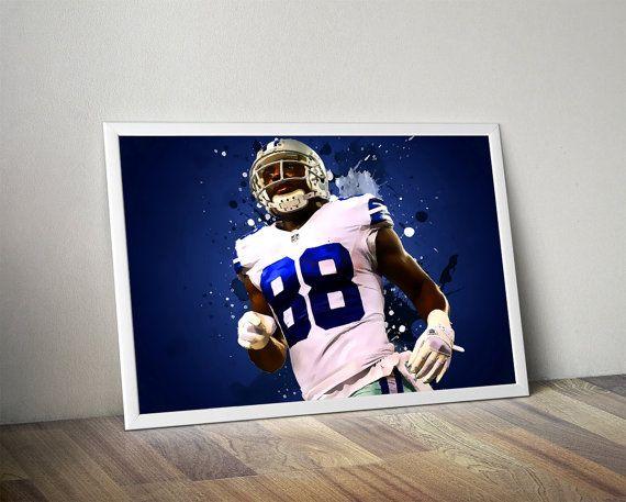 Dez Bryant Dallas Cowboys Poster Dez Bryant by TroutLifeStudio