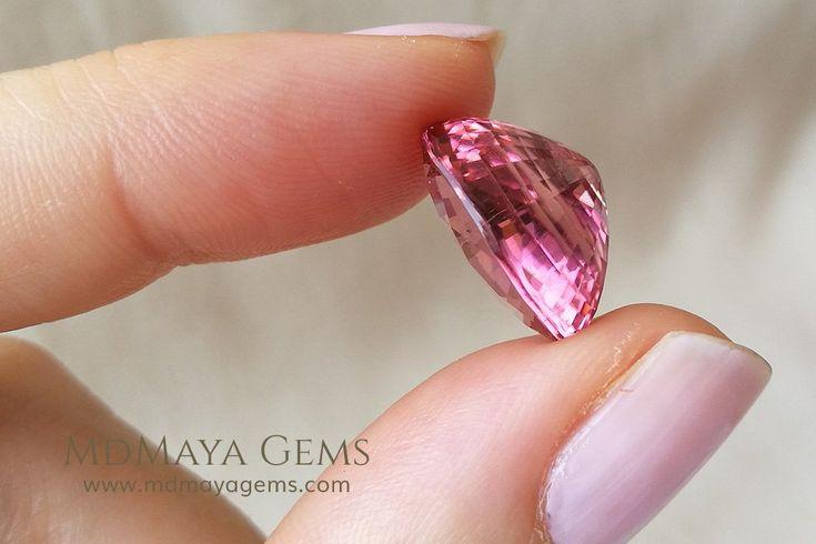 Super Pink Tourmaline Gemstone Oval Cut 11.90 ct