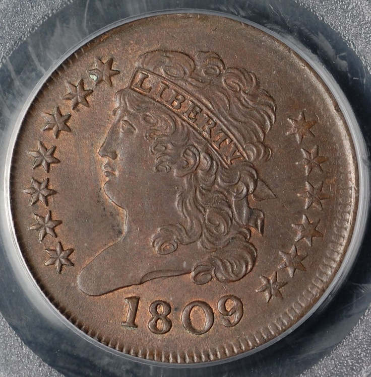 Collectors Corner - 1809 1/2C MS64RB PCGS