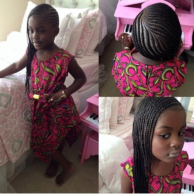 Hairstyles For Black Little Girls one side braids on a super cute little girl black girls hairstylescute 231 Best Cornrow Styles For Little Girls