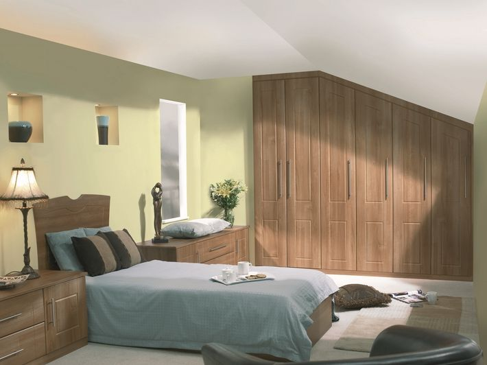 A classy bespoke bedroom design that doesn't cut corners, it fits them.